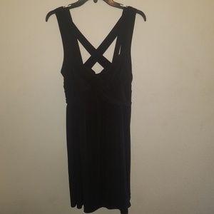 Torrid Black Cross Back Sun Dress